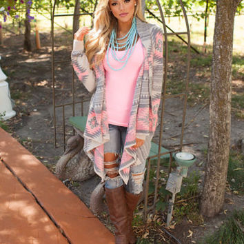 Neon Pink Diamond Aztec Sweater