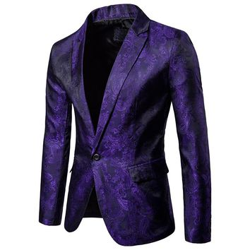 Autumn casual Men's suits The design of the palace style superior fashionable with a buckle fashion suit men coat plus size
