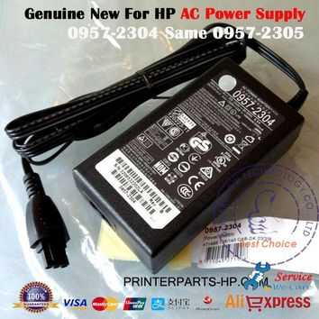 Original New 32V 1094mA 12V 250mA AC Power Adaptor Charger 0957-2304 0957-2305 For HP Officejet 6700 HP6700 HP 6700 Series