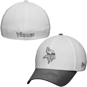 Minnesota Vikings New Era Series Gunner Two-Tone 39THIRTY Flex Hat – White
