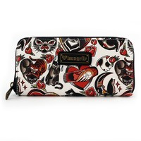 Loungefly Cat Tattoo Flash Print Wallet - Wallets