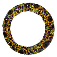 Sunflowers Steering Wheel Cover-Floral Car Accessory-Cute Wheel Cover-Sunflower Car Decor-Unlined or LIned Wheel Cover