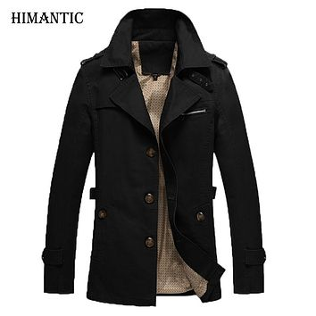 Men Casual Outwear Jacket Homes Army military Slim long windbreaker Overcoat Men trench coat