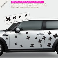 Buy 22 butterfly vinyl car stickers - any colour on Shoply.
