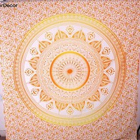 Hippie Hippy Wall Hanging Indian Mandala Tapestry Throw Bedspread Dorm Tapestry Decorative Wall Hanging , Ombre Mandala Tapestries