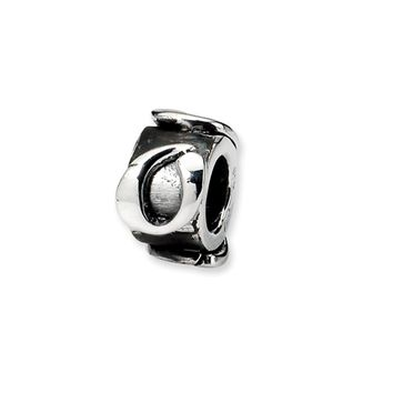 Sterling Silver Letter O, Alphabet Bead Charm