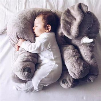 Elephant Pillow Chair Pet Para Bebe Napper Lumbar Long Nose Child Baby Animal Plush Soft Elephant Cushion Baby Blue Red Pink
