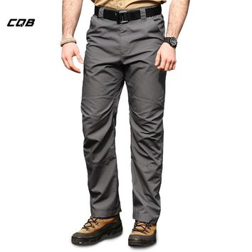 CQB LACKWAR Outdoor Sports Cycling Tactical Military Waterproof Men's Pants for Climbing Traveling Trekking Breathable Trousers