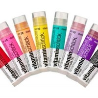 (3 Pack) Vitamin Water Vitaminwater Vitaminschtick Flavored Lip Balm (Focus Kiwi-Strawberry, XXX Acai-blueberry-pomegranate and Dragonfruit)