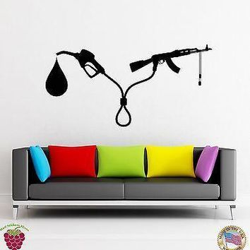 Wall Stickers Vinyl Decal Guns And Oil Are Tight Politics Funny Decor Unique Gift (z1781)