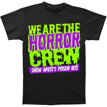 Snow White's Poison Bite Men's  Horror Crew (Toxic Colors) T-shirt Black