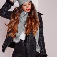 Missguided - Hat Scarf Glove Set Grey