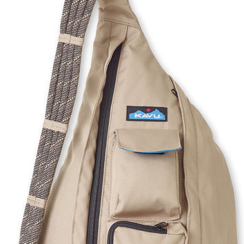 Monogrammed Kavu Rope Bags - Taupe - Great gift for College, Teens, Women, Outdoors Satchel Crossbody Tote, Rope Sling
