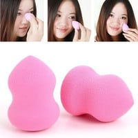 Girl's Gourd Water Droplets Sponge Cotton Pad Puff Make-up Tools Fuchsia,1 PC = 1705640324
