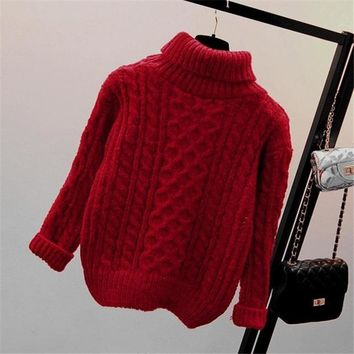 2019 Hot Autumn And Winter Style Pullover Long Sleeve Knit Sweater Women