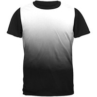 Fade to Black All Over Mens Black Back T Shirt