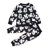2016 Baby Boys Girls Fashion Sport Suit Kids Mickey Clothes Children's Sweater + Trousers two pieces Clothing Set Cotton Jerseys