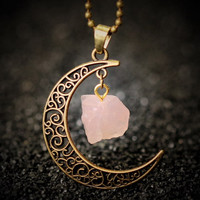 Rose Quartz Sailor Moon Necklace