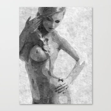Perfection in black and white Canvas Print by Casemiro Arts - Peter Reiss