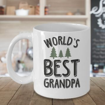 World's best Grandpa Coffee Mug Gift For Granddad Papa Dad Fathers Day Cup Cute