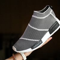 Adidas: zebra woven shoes sneakers black and white stripes