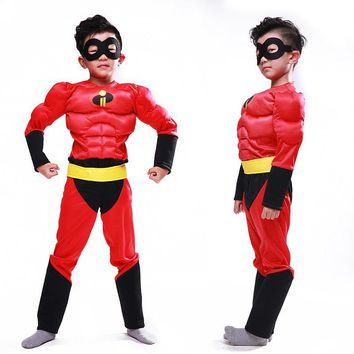 Cool Muscle the incredibles costume clothing halloween costumes for kids boys Cosplay children girls avengers infinity war CarnivalAT_93_12