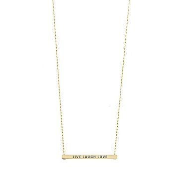 Live Laugh Love Bar Necklace