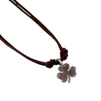 Stylish New Arrival Gift Shiny Jewelry Style Leather Men Alloy Leaf Vintage Chain Necklace [6526581507]