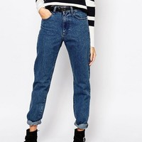 Pimkie Light Wash Mom Jean at asos.com