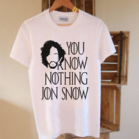 YOU KNOW NOTHING JON SNOW T SHIRT GAME THRONES TUMBLR FASHION TOP NEW