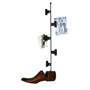 Vintage Shoe Photo Holder, Large
