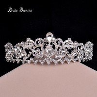Fashion hair jewelry wedding bridal crown accessories rhinestone sparking women bridal tiara