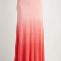 ModCloth Boho Long Maxi Ombre New World Skirt in Pink