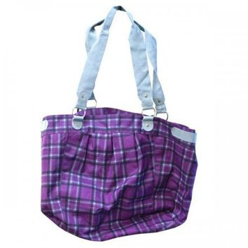 Large Plaid Fashion Tote (pack of 6)