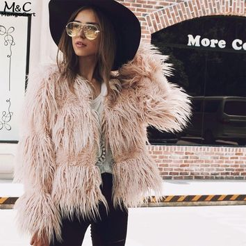 Winter Faux Fur Coat