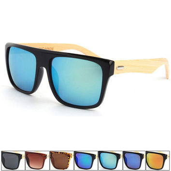 handmade wood bamboo cat eye sunglasses + bamboo sunglasses box 10