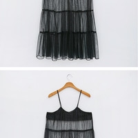 Jazzy Mesh Tiered Dress
