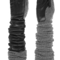 Rochas | Wool-blend and leather gloves  | NET-A-PORTER.COM