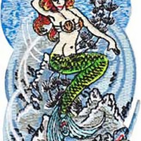 Sublime Iron-On Patch Mermaid Logo