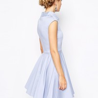 Closet Collared Skater Dress With Pockets