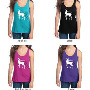 Harry Potter Inspired Clothing - Always Doe Semi-Fitted Racerback Tank - Ladies