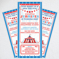 Circus Invitation / Carnival Party Invitation / Circus Birthday Party
