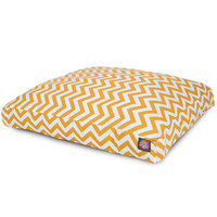 Yellow Chevron Small Rectangle Dog Bed