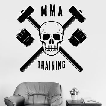 Vinyl Wall Decal MMA Training Martial Arts Fight Club Sports Stickers Unique Gift (ig3515)