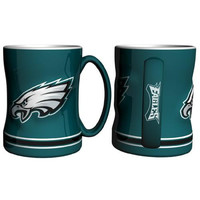 Philadelphia Eagles NFL Coffee Mug - 15oz Sculpted (Single Mug)