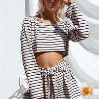 Parallel Cropped Top - Tops by Sabo Skirt