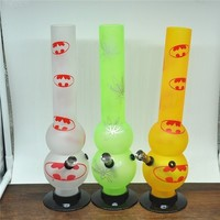 Height 300mmSilk printing frosted acrylic smoking pipe  bubblers 300MM