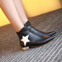Pointed Toe Star Ankle Boots Women Shoes Fall|Winter