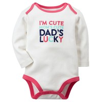 Carter's ''Dad's Lucky'' Bodysuit - Baby Girl, Size: