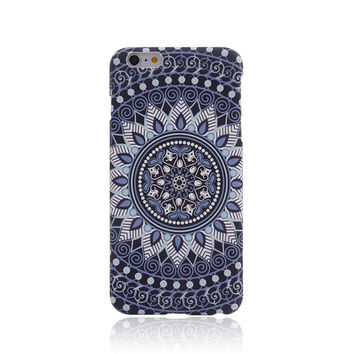 Navy Flos Daturae Creative Handmade Luminous  Light Up iPhone Cases for 5S 6 6S Plus